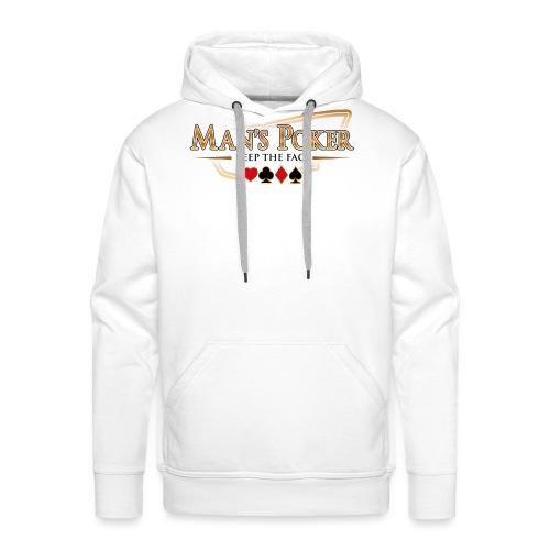 Mans Poker LQ fond clair - Sweat-shirt à capuche Premium pour hommes