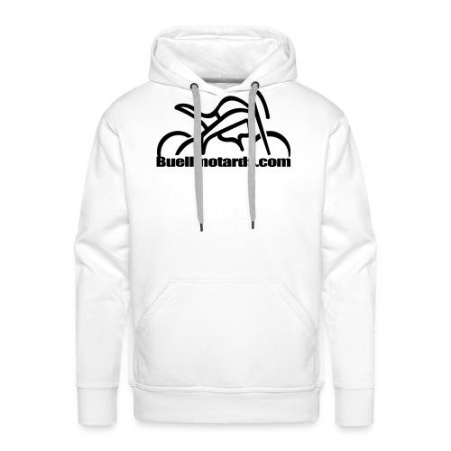 logo buellmotards black - Sudadera con capucha premium para hombre