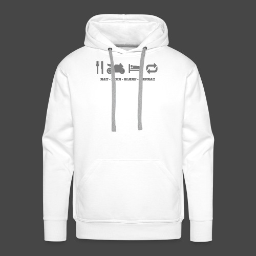 eat-ride-sleep-repeat - Mannen Premium hoodie