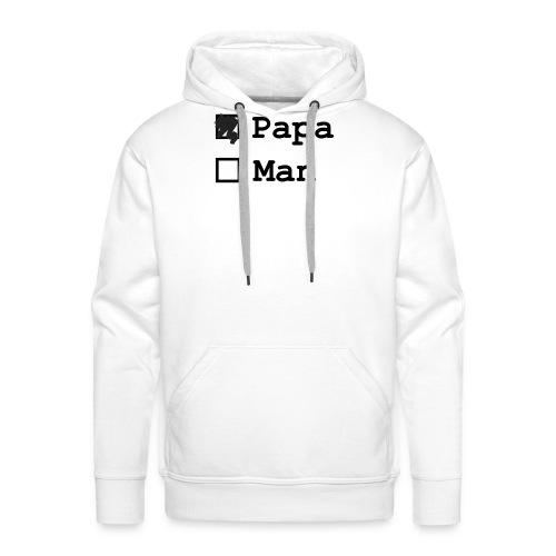 papa-man - Mannen Premium hoodie