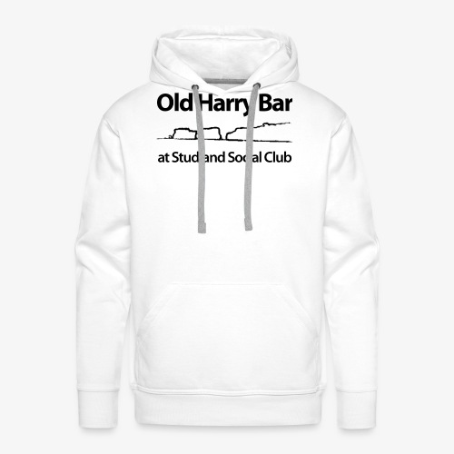 Old Harry Bar logo - black - Men's Premium Hoodie