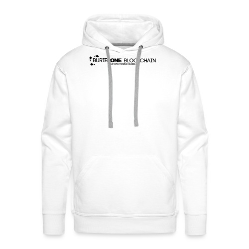 BO Logo Shirt Blockchain Black - Men's Premium Hoodie