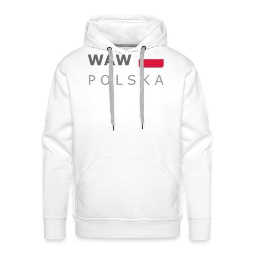 WAW POLSKA dark-lettered 400 dpi - Men's Premium Hoodie