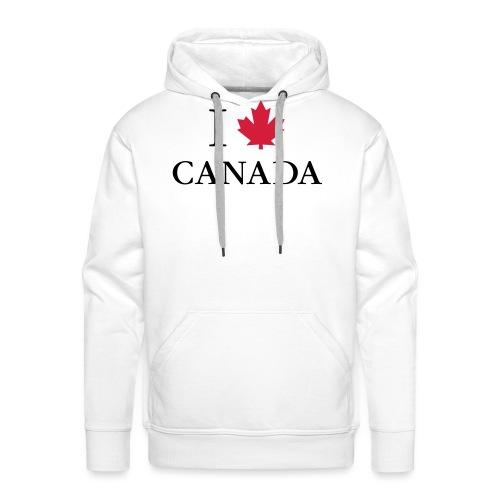 I love Canada Ahornblatt Kanada Vancouver Ottawa - Männer Premium Hoodie