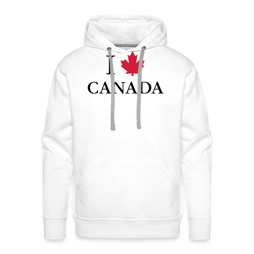 I love Canada Ahornblatt Kanada Vancouver Ottawa - Men's Premium Hoodie