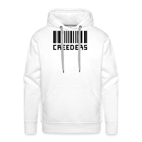Creeders code barre - Sweat-shirt à capuche Premium pour hommes