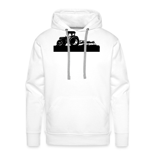 Tractor with cultivator - Men's Premium Hoodie