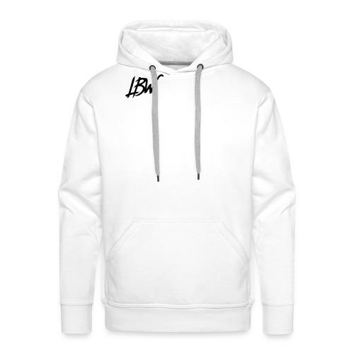 WHITE LBW T-SHIRT - Men's Premium Hoodie