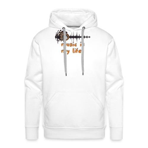 Music is my Life - Felpa con cappuccio premium da uomo
