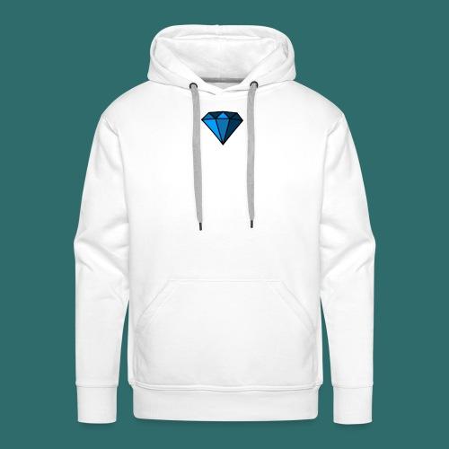 Blue Diamond - Felpa con cappuccio premium da uomo