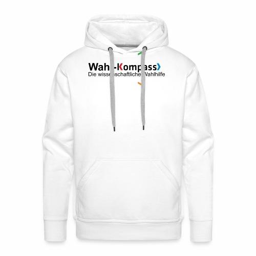 Wahl-Kompass Logo mit Slogan - Männer Premium Hoodie