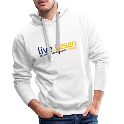 live.Lesen Logo - Männer Premium Hoodie