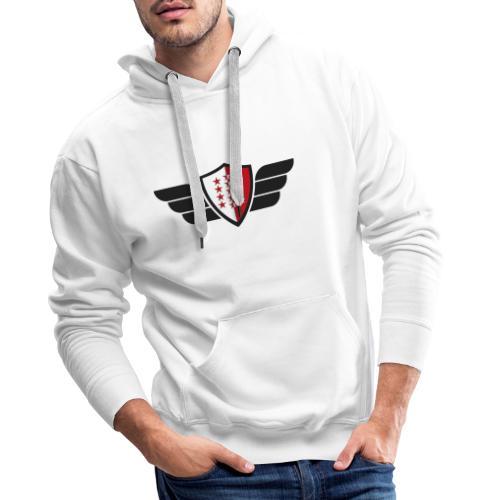 Flying Valais - Walliser Flagge mit Flügeln - Männer Premium Hoodie