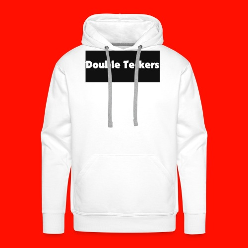 double teckers white top - Men's Premium Hoodie