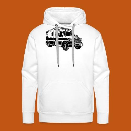 Krankenwagen / Rettungswagen 01_schwarz - Männer Premium Hoodie