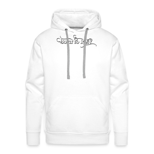 Born-to-RUN---Logo---White.png - Männer Premium Hoodie