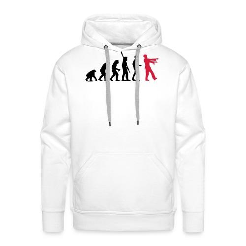 Zombie Evolution (zweifarbig) - Männer Premium Hoodie