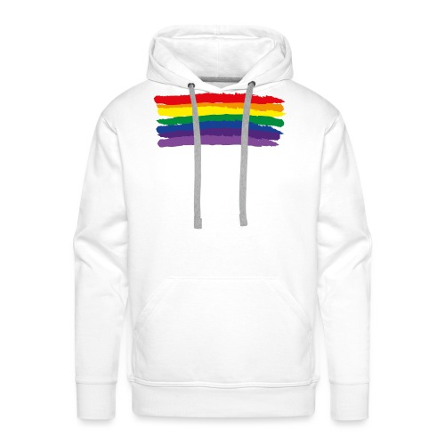 Rainbow Flag & colors - Men's Premium Hoodie