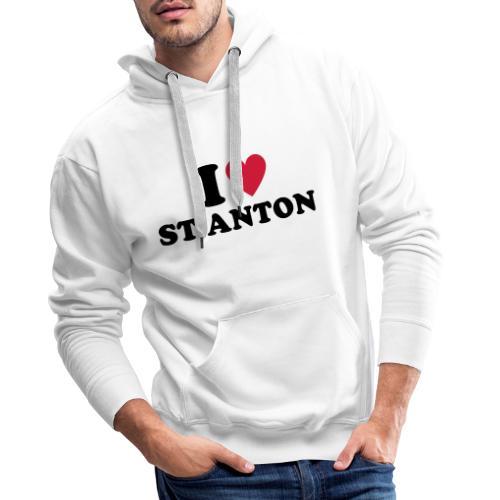 I love St. Anton am Arlberg - Mannen Premium hoodie