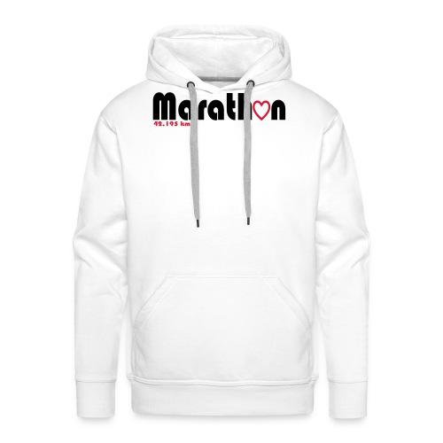 I love marathons - Männer Premium Hoodie