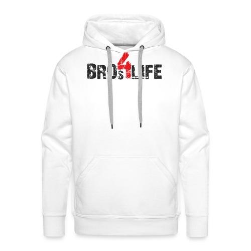 bros 4 life - black-red - Männer Premium Hoodie