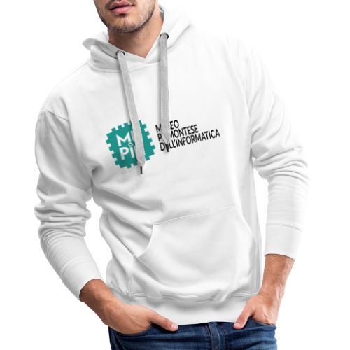 Logo Mupin con scritta - Felpa con cappuccio premium da uomo
