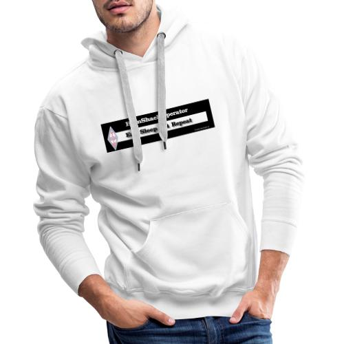 Tshirt Back Text EatSleep - Men's Premium Hoodie