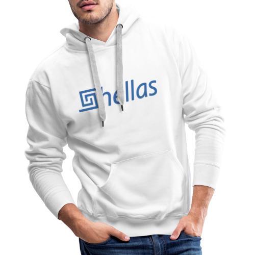 HELLAS LOGO BLAU - Männer Premium Hoodie