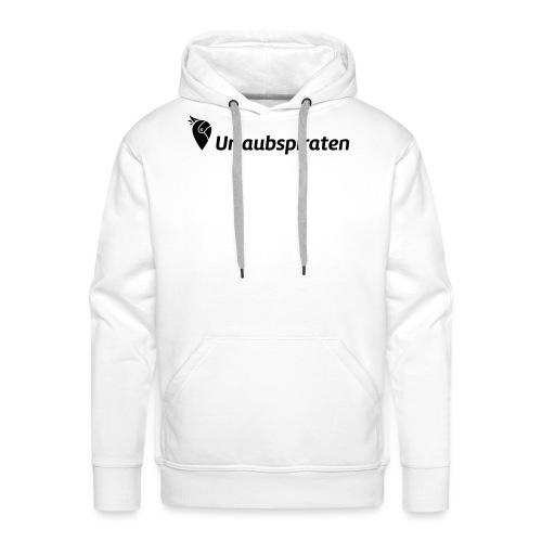 logo horizontal black DE - Männer Premium Hoodie