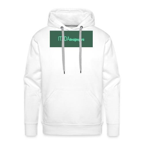 logo face jpg - Sudadera con capucha premium para hombre