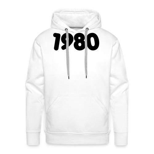 1980 - Felpa con cappuccio premium da uomo