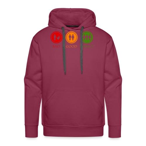 Bad good perfect - Threesome (adult humor) - Mannen Premium hoodie