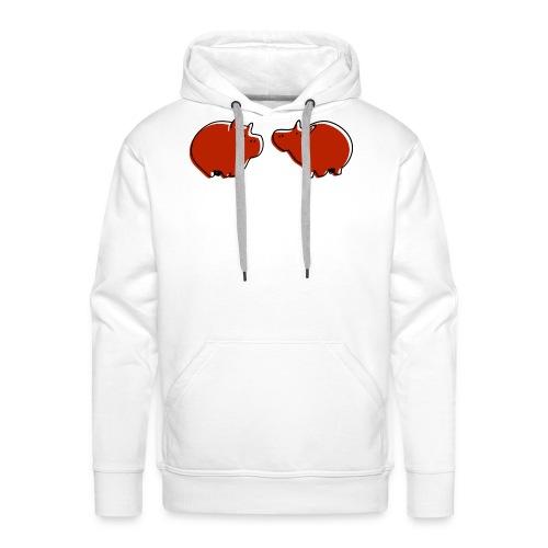 Cochons rouges - Sweat-shirt à capuche Premium pour hommes