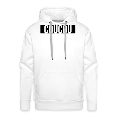 Coucou [1] Black - Sweat-shirt à capuche Premium pour hommes