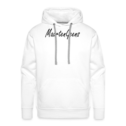 MaartenGeens Zwart - Mannen Premium hoodie