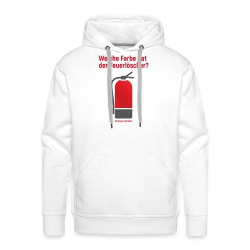 Feuerlöscher weiß - Männer Premium Hoodie