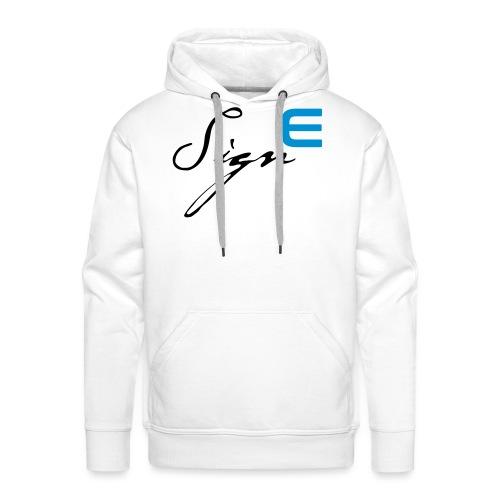 Sign E - Blue - Männer Premium Hoodie