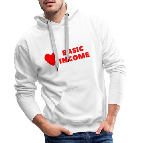 basic income red trans - Mannen Premium hoodie