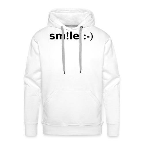 smile - sorridi - Felpa con cappuccio premium da uomo