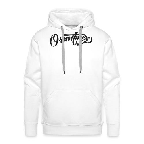 Ormstunge logo - Premium hettegenser for menn