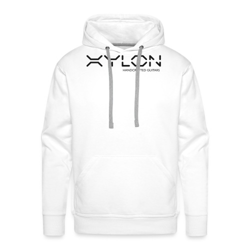 Xylon Handcrafted Guitars (plain logo in black) - Men's Premium Hoodie
