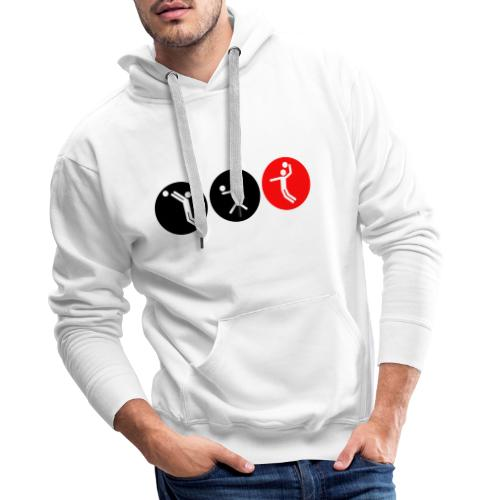 Volleyball symbole bicolor - Männer Premium Hoodie