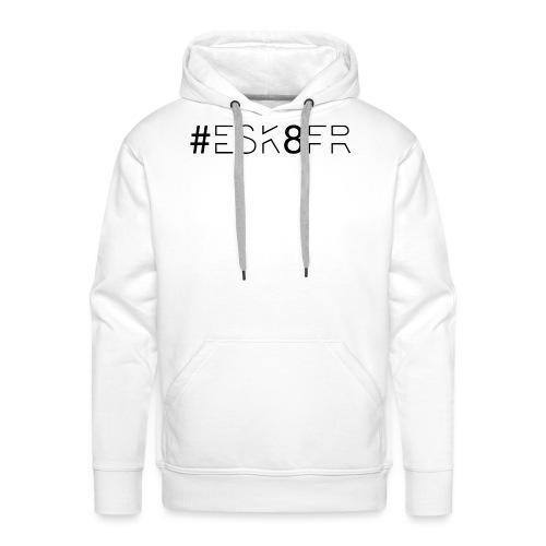 ESK8FR NEW NOIR png - Sweat-shirt à capuche Premium pour hommes