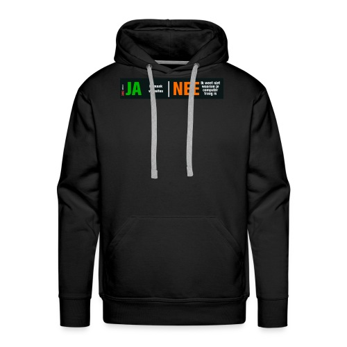 Ja ik maak websites - Mannen Premium hoodie