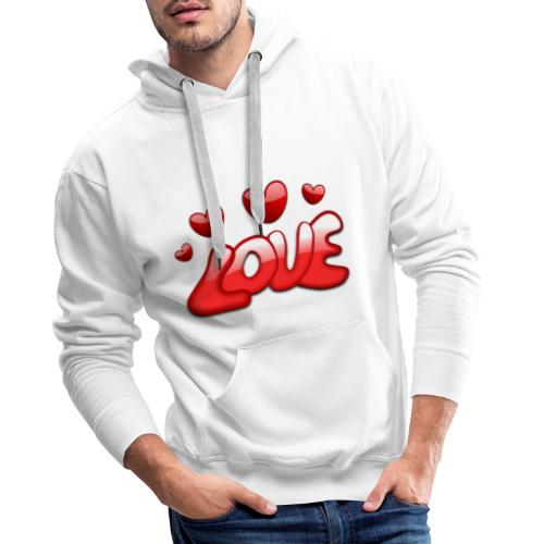 love and Hearts - Männer Premium Hoodie
