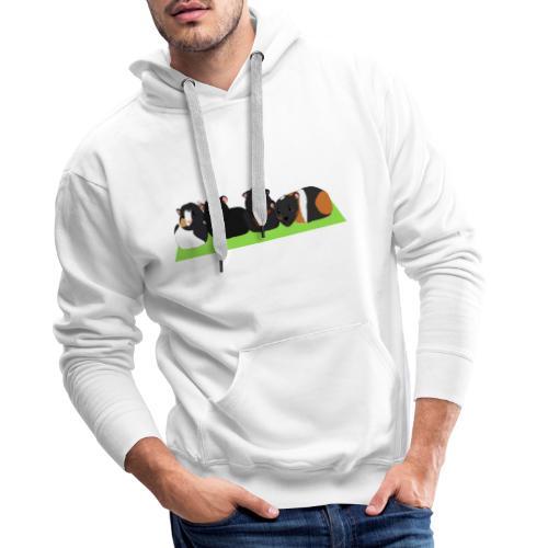Cavia familie - Mannen Premium hoodie