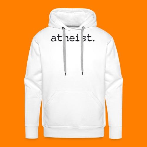 atheist BLACK - Men's Premium Hoodie