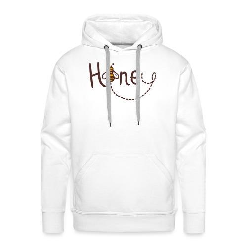 Honey Logo Druck mit Biene - Männer Premium Hoodie