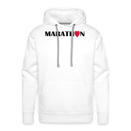 I love Marathon - Männer Premium Hoodie