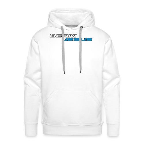 Team Jesus Racing Sport Logo White Blue - Bluza męska Premium z kapturem